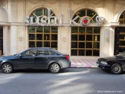 西ベイルートのハムラー地区に最近オープンした寿司店。