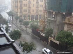 9月にしては珍しく豪雨となったベイルート。